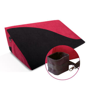 WEDGE WITH HANDCUFFS SEX CUSHION TRIANGLE LOVE PILLOW EROTIC POSITIONING G SPOT