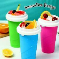 Slushy Ice Cream Maker Squeezy Peasy Slush Cooling Milkshake Cup Nice Bottl P1Y6
