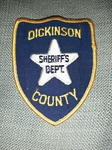Dickinson County Kansas Sheriff Police patch Old Vintage