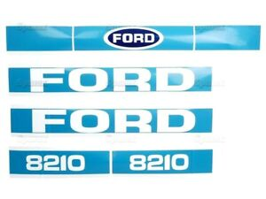 BONNET DECAL SET FOR FORD 8210 TRACTORS. EARLY TYPE. HIGH QUALITY