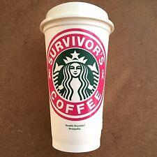 Survivor's Coffee Breast Cancer Awareness Starbucks Cup Decal Sticker