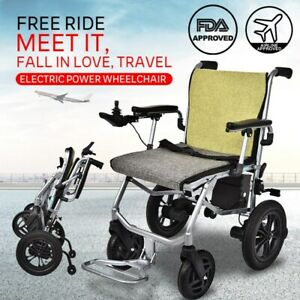 Electric Wheelchair Motorized Power Wheel Chair Strong Mobility Aid Foldable