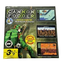 Cannon Fodder 3.5 Floppy Disk IBM DOS VGA Shareware Software Game Wiz Tech 1993