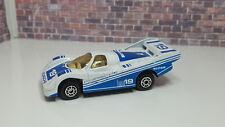 VINTAGE MAISTO MC TOYS PORSCHE 956 RACE RACING CAR WHITE/BLUE 1:64 Die Cast Car