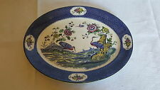 Blue Yang Tse design vintage Art Deco antique meat plate platter C