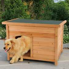 Wood Dog House Home Large Dog Big Pet Doghouse Kennel Indoor Outdoor Waterproof