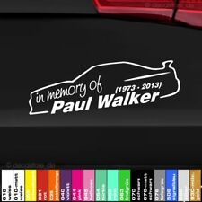 1x des autocollants Paul Walker 20 cm Memory car Décalque Tuning Sticker Shocker JDM