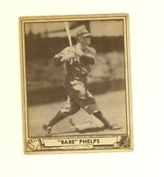 1940 Play Ball #66 Ernest Babe Phelps Brooklyn Dodgers VG/EX no creases