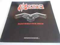 SAXON WORLD TOUR 1985/86 INNOENCE  IS NO EXCUSE & TICKET HAMMERSMITH