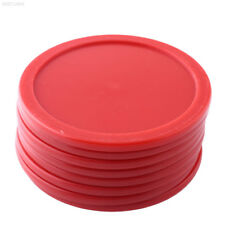 2911 8Pcs 63mm Red ABS Air Hockey Children Pucks Mini Felt Pusher Mallet Puck