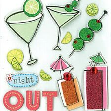 K&Company Dimensional Stickers - Night Out -Martini Glasses-Olives- #1256