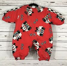 Vintage Baby Mickey and Co by Mighty Mac Mickey Mouse Racecar Snowsuit 6/9M