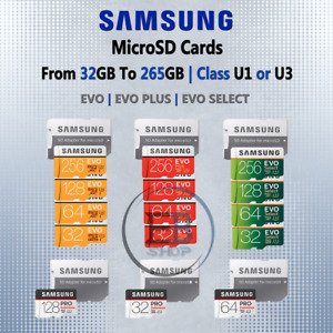 Samsung Micro SD Card OEM 32gb 64gb 128gb 256gb EVO Plus Select Fast lot Memory