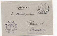 1. WK Feldpost IV. Armeekorps  beratender chirurg 27.5.1918