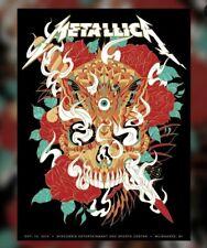"Metallica Poster Fiserv Forum, Milwaukee Wi 10-16-18 Concert Print ""Bioworkz"""