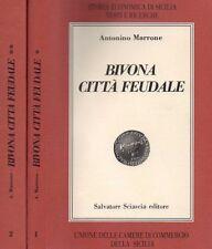 BIVONA CITTA' FEUDALE ANTONINO MARRONE 1987 SALVATORE SCIASCIA 2 VOLUMI (JA363)