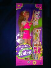 New / Vintage 1997 ~*~ Sticker Craze Barbie ~*~ Mib ~*~ New In Box