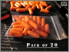 (20) SAF-T-TRAINERS SNAP CAPS DUMMY ROUNDS Brightly colored 9mm Makarov Orange