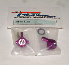 TEAM ASSOCIATED RC18T MT GPM FRONT KNUCKLE HUB ALUMINUM PURPLE AR021