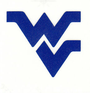 REFLECTIVE West Virginia Mountaineers fire helmet decal sticker RTIC WV hardhat