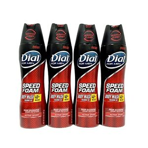 Dial for Men Speed Foam Body Wash Foaming Gel Active Sport 6.8 oz New Lot of 4