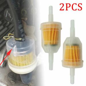 2x Benzinfilter Sprit Filter Kraftstofffilter Für Auto PKW Motorrad Roller Quad