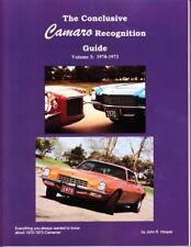 70 71 72 73 Camaro Camaro Recognition Guide 70-73
