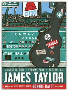 JAMES TAYLOR CONCERT GIG POSTER 2017 - NEW - FENWAY PARK