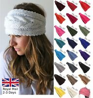 Women Ladies Winter Warm Fashion Elegant Knitted Wool Headband Hairband Earmuffs