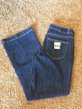Women's NEW PAIGE Sz 27 Dark Blue Helaine Milo Crop Flare Jeans