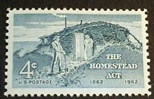 U.S. Scott 1198- The Homestead Act, Settlers and Sod Hut- MNH OG F-VF 1962
