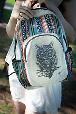 Pure Hemp Backpack Handmade Nepal with Laptop Sleeve Unisex For Work And School