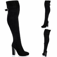 Unbranded Buckle Knee High Boots for Women