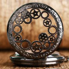 Luxury Gearwheel Roman Numerals Hand-winding Mechanical Women Pocket Watch Chain