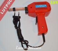 LUTPOL LT-B 100W ELECTRIC  SOLDER IRON GUN KIT 230V - 2 SPARE TIPS+SOLDER/FLUX