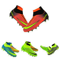 Fashion Men Outdoor Gym Soccer Cleats Shoes FG Ankle Top Football Boots Sneaker