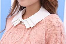 Girls women Fake Collar Detachable Dickey Collar Blouse Half Shirts fold Collar