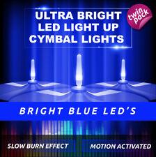 LIGHTENING BOLTZ- MEGA BRIGHT BLUE LIGHT UP CYMBAL LIGHT VIBRATION SENSITIVE