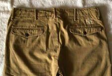 """Double rl rrl Logo """"oficial"""" Cuadro Pantalones chino rectos de los pantalones caqui W34/32"""