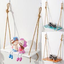 Wood Swing Shelf Tassel Beads Display Holder Wall Hanging Home Bedroom Decor