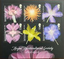 1804-2004 Great Britain Miniature Sheet - Royal Horticultural Society Mnh