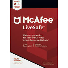 McAfee LiveSafe Free Upgrade to 2018 Download 1 Year Unlimited Devices NEW