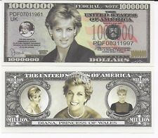 Princess Diana Novelty  , One Million Dollar Bill