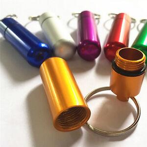 Waterproof Survival Match Pill Box Case Bottle Bait Holder Keychain Container Tw