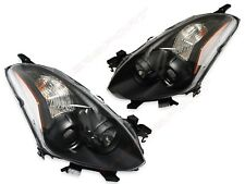 Pair Black OE Replacement Headlights (Halogen) for 2010-2013 Altima Coupe 2DR