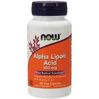 NOW Foods Alpha Lipoic Acid, 100 mg, 60 Veg Capsules