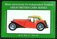 Matchbox label British Cars MG TC 1945-49 Midget MD242