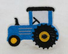 2PCS sapphire 48*65mm tractor Embroidered Iron On Patch Clothes Appliques Crafts