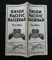 """1941 UNION PACIFIC RAILROAD RAILWAY """"OVERLAND ROUTE"""" TIME TABLE VERY NICE SHAPE"""