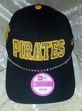 Pittsburgh Pirates Womens New Era Brand Rhinestone MLB Baseball Cap Hat  ~NEW~ 37371c1a50dd
